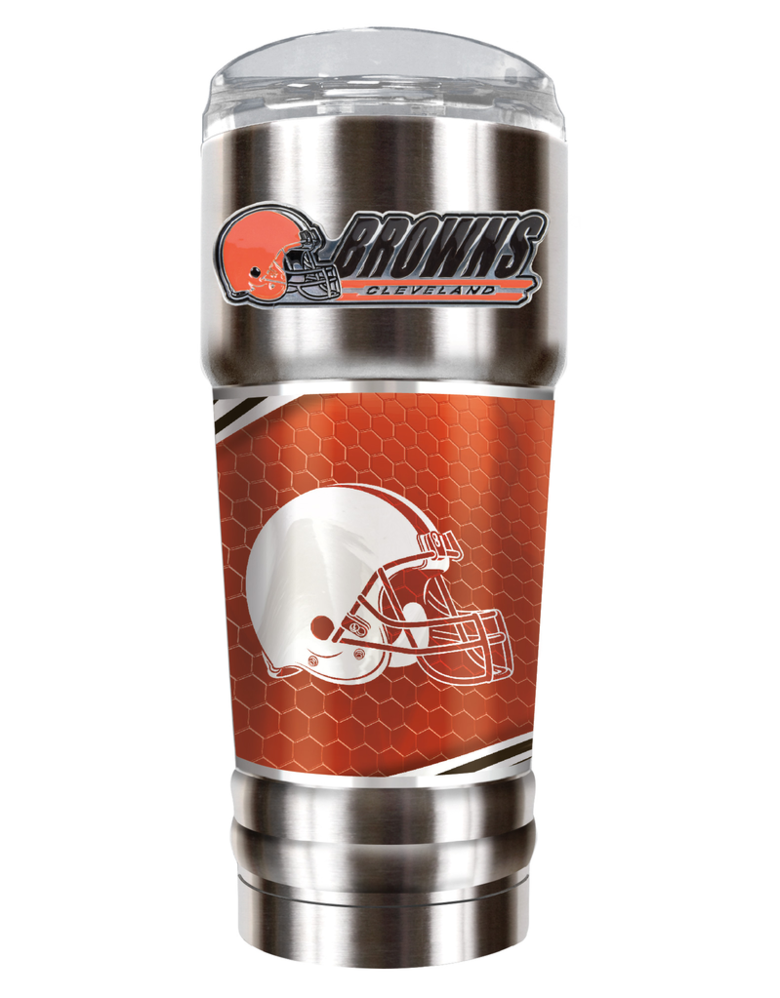 GREAT AMERICAN PRODUCTS Cleveland Browns 32oz Stainless Steel PRO Tumbler