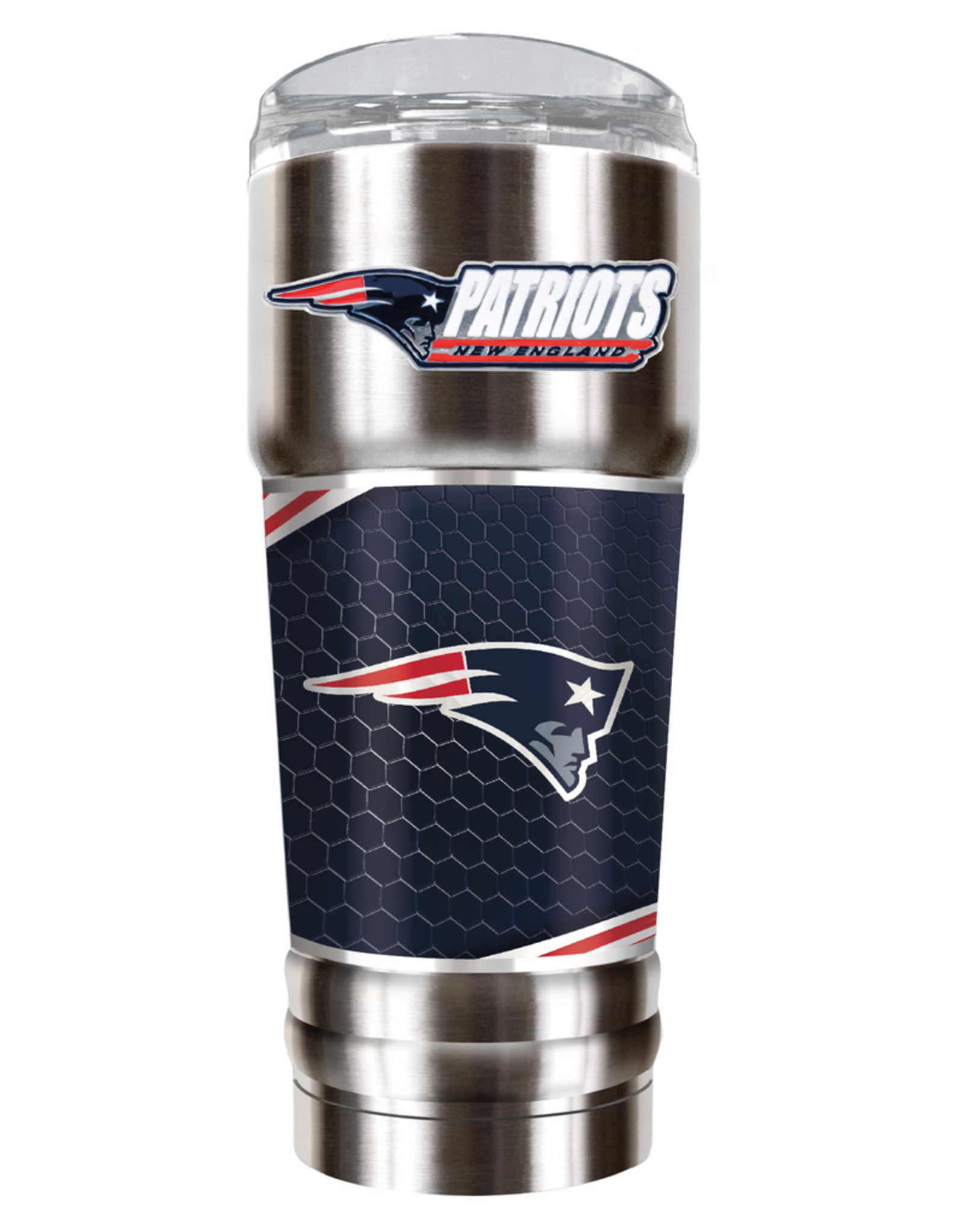 GREAT AMERICAN PRODUCTS New England Patriots 32oz Stainless Steel PRO Tumbler