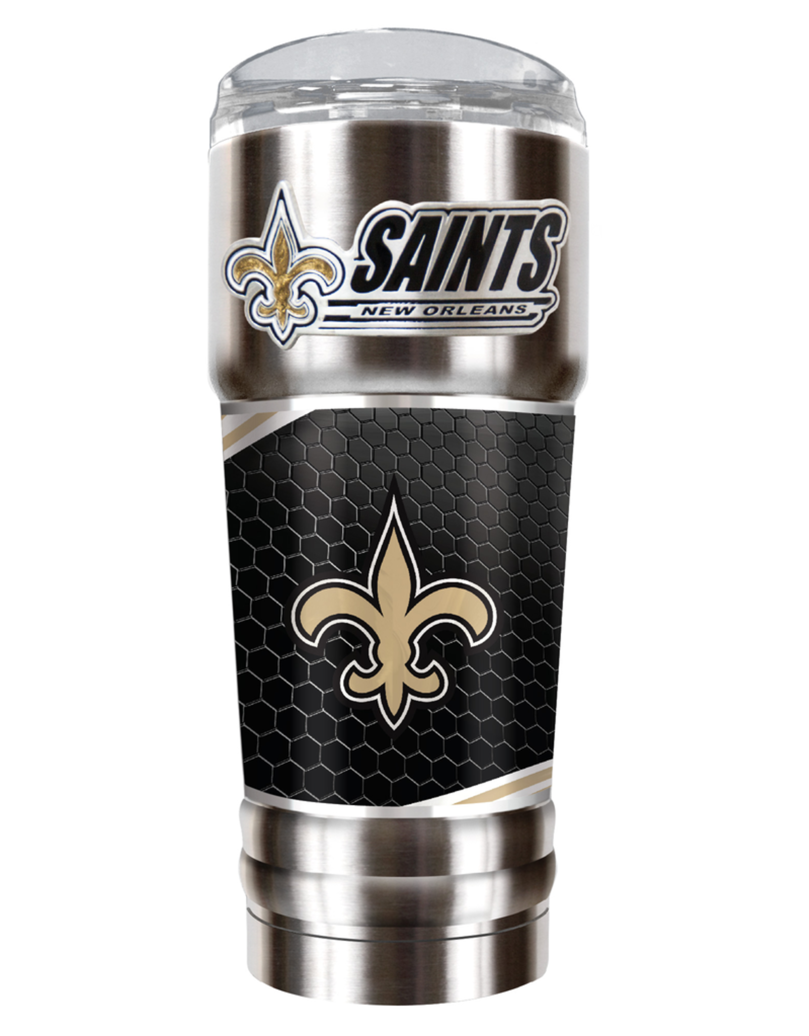 GREAT AMERICAN PRODUCTS New Orleans Saints 32oz Stainless Steel PRO Tumbler