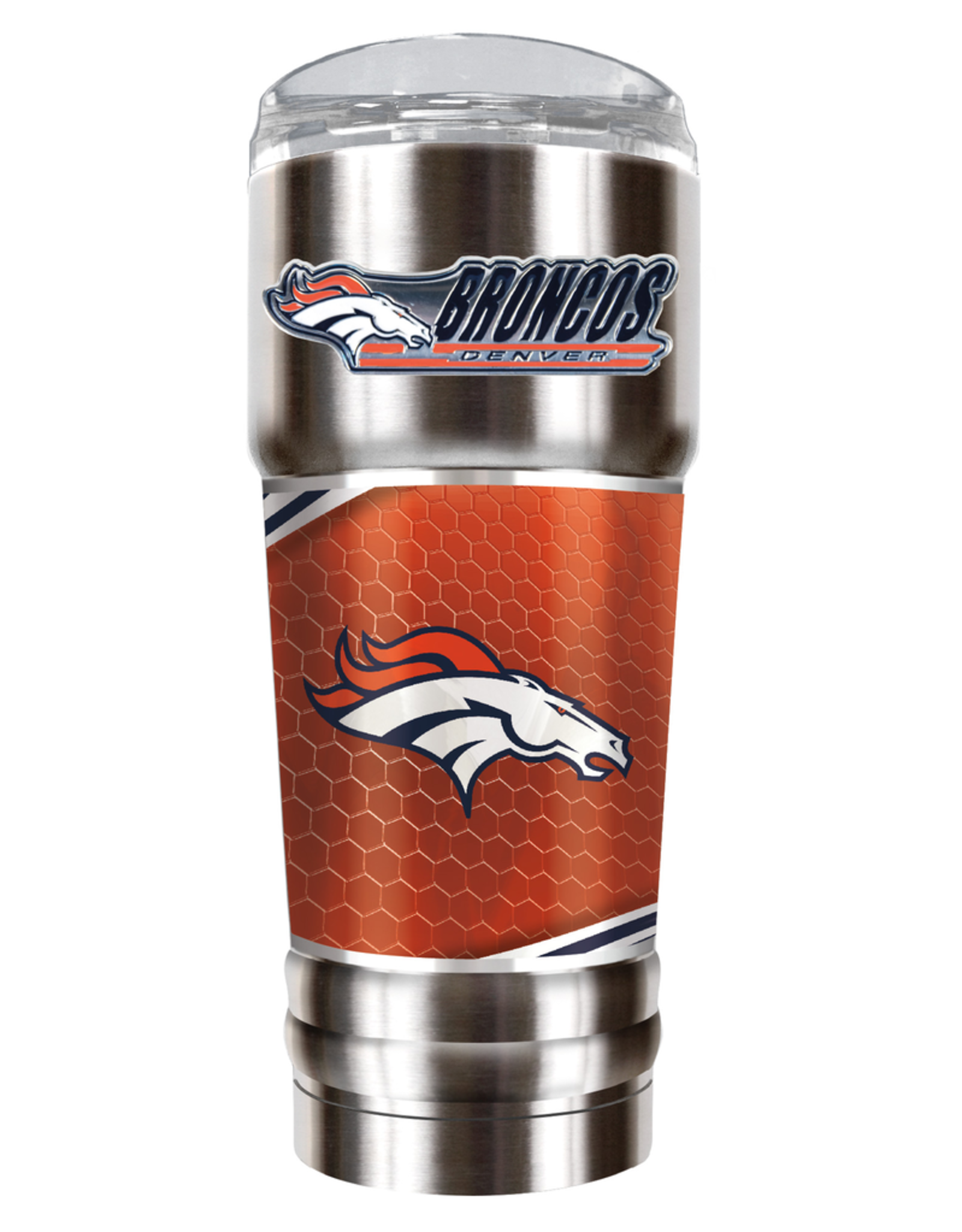 GREAT AMERICAN PRODUCTS Denver Broncos 32oz Stainless Steel PRO Tumbler