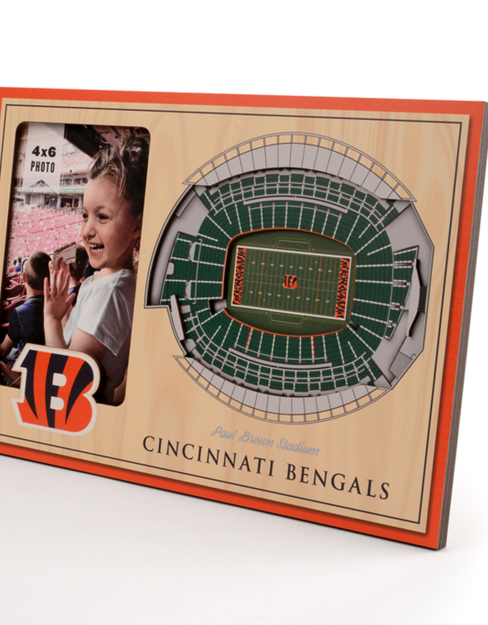 YOU THE FAN Cincinnati Bengals 3-D Stadium Picture Frame