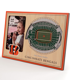 YOU THE FAN Cincinnati Bengals 3-D Stadium Picture Frame
