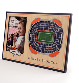 YOU THE FAN Denver Broncos 3-D Stadium Picture Frame