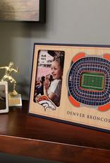YOU THE FAN Denver Broncos 3-D Stadium Picture Frame