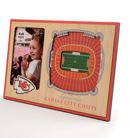 YOU THE FAN Kansas City Chiefs 3-D Stadium Picture Frame