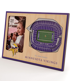 YOU THE FAN Minnesota Vikings 3-D Stadium Picture Frame