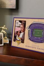 YOU THE FAN Minnesota Vikings 3-D Stadium Picture Frame