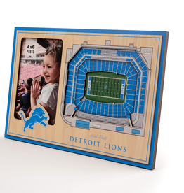 YOU THE FAN Detriot Lions 3-D Stadium Picture Frame