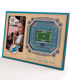 YOU THE FAN Miami Dolphins 3-D Stadium Picture Frame