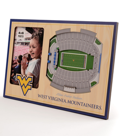 YOU THE FAN West Virginia Mountaineers 3-D Stadium Picture Frame