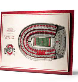 YOU THE FAN Ohio State Buckeyes 3-D Stadium Picture Frame