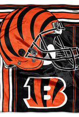 "NORTHWEST Cincinnati Bengals 50""x60"" Touchback Royal Plush Raschel Throw"