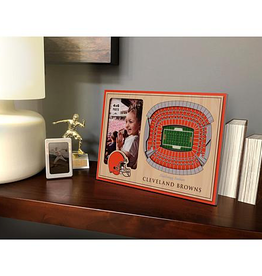 YOU THE FAN Cleveland Browns 3-D Stadium Picture Frame