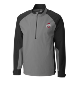 CUTTER & BUCK Ohio State Buckeyes Men's CB Weathertec Summit Half-Zip Pullover Jacket