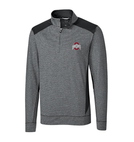 CUTTER & BUCK Ohio State Buckeyes Men's Shoreline Color Block Half Zip Top