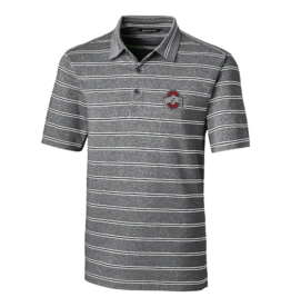 CUTTER & BUCK Ohio State Buckeyes Men's Forge Heather Stripe Polo