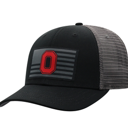 TOP OF THE WORLD Ohio State Buckeyes Back The Flag Ajustable Cap