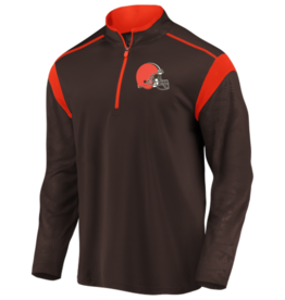 FANATICS Cleveland Browns Men's Defender Mission Half-Zip Top