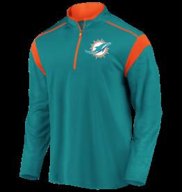 FANATICS Miami Dolphins Men's Defender Mission Half-Zip Top