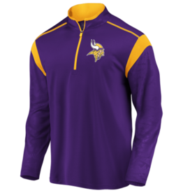 FANATICS Minnesota Vikings Men's Defender Mission Half-Zip Top