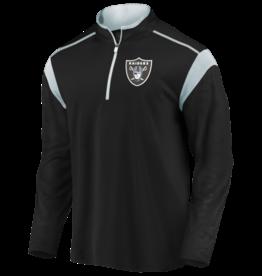 FANATICS Oakland Raiders Men's Defender Mission Half-Zip Top