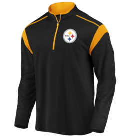 FANATICS Pittsburgh Steelers Men's Defender Mission Half-Zip Top