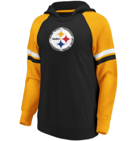 FANATICS Pittsburgh Steelers Women's Blocked Pullover Hoodie