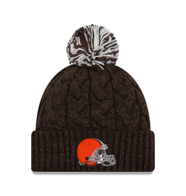 NEW ERA Cleveland Browns New Era Cozy Cable Knit Hat