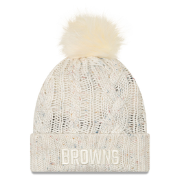 NEW ERA Cleveland Browns New Era Knit Fuzzy Pom Hat