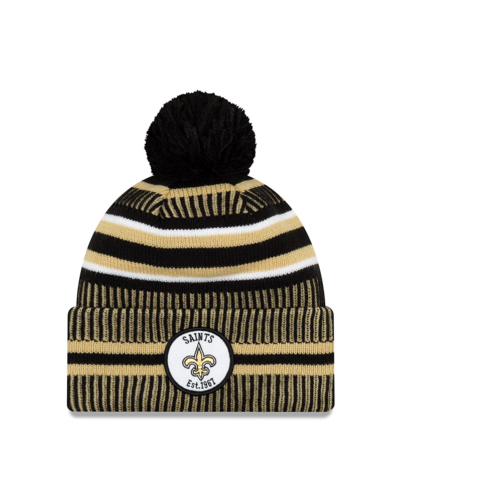 NEW ORLEANS SAINTS 2018 NFL NEW ERA OFFICIAL ON FIELD SIDELINE BEANIE KNIT HAT