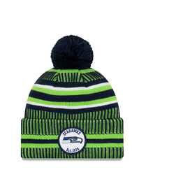NEW ERA Seattle Seahawks New Era NFL 2019 Official Sideline Sport Knit Hat