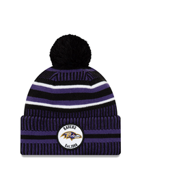 NEW ERA Baltimore Ravens New Era NFL 2019 Official Sideline Sport Knit Hat