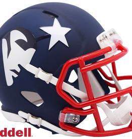 RIDDELL New England Patriots Riddell AMP Alternate Mini Speed Helmet