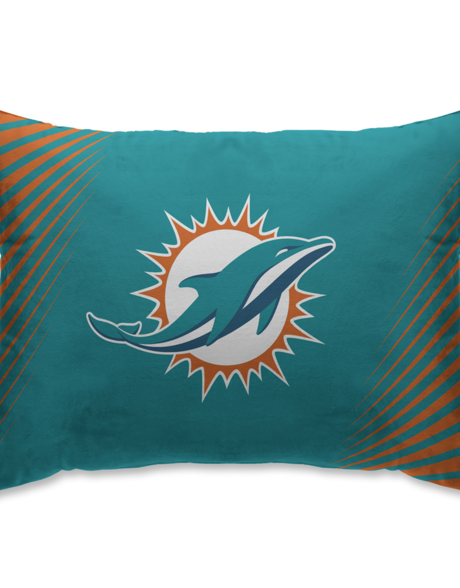 HOVER HELMETS Miami Dolphins Side Streak Microplush Pillow Protector
