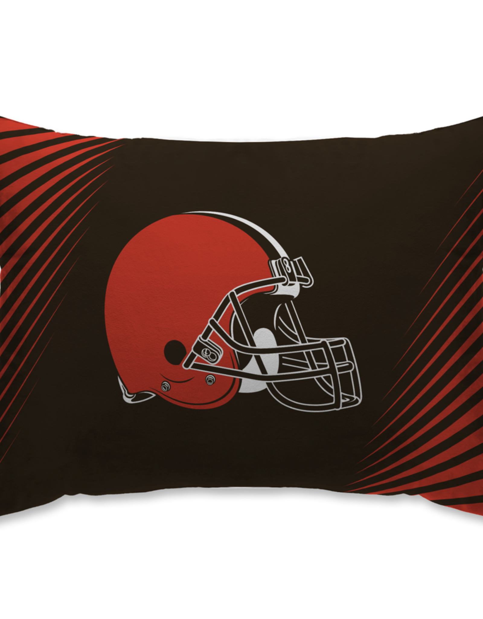 HOVER HELMETS Cleveland Browns Side Streak Microplush Pillow Protector