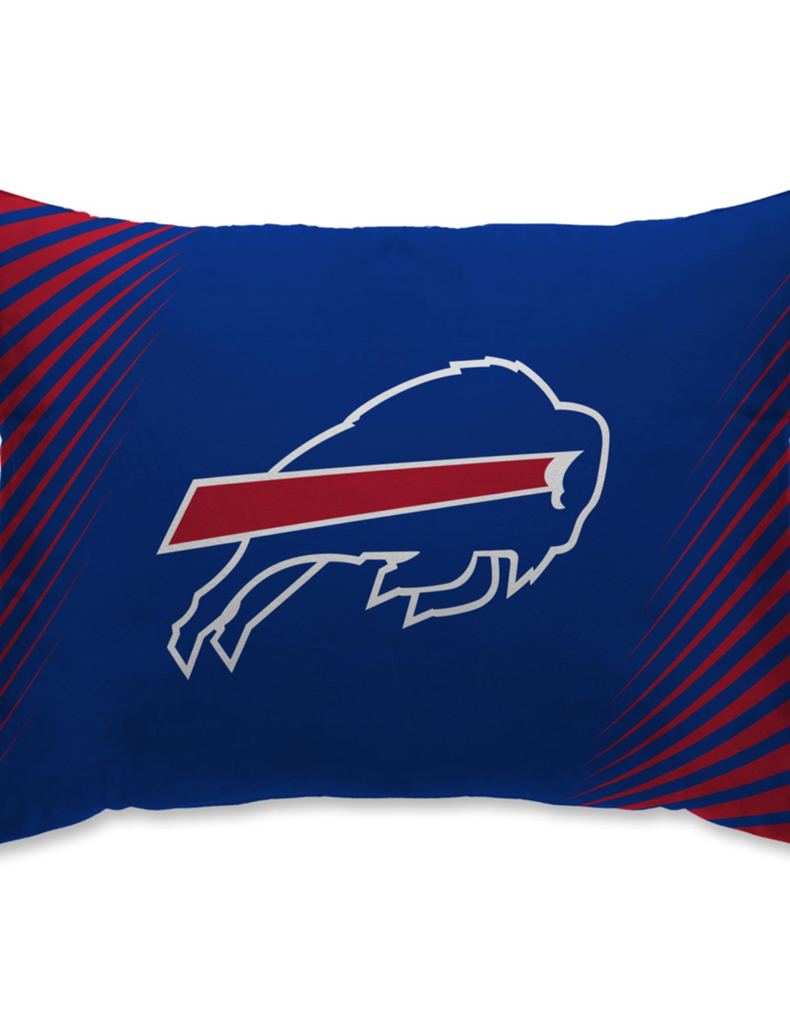 HOVER HELMETS Buffalo Bills Side Streak Microplush Pillow Protector