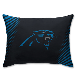 HOVER HELMETS Carolina Panthers Side Streak Microplush Pillow Protector