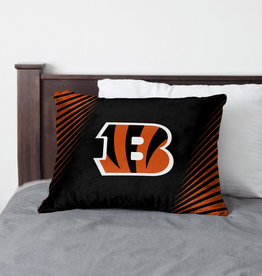 HOVER HELMETS Cincinnati Bengals Side Streak Microplush Pillow Protector