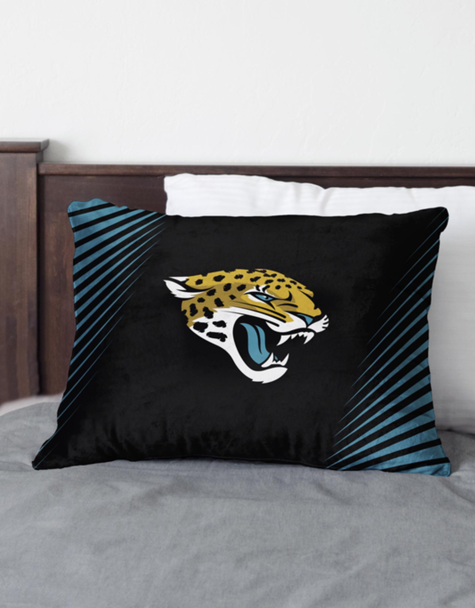 HOVER HELMETS Jacksonville Jaguars Side Streak Microplush Pillow Protector