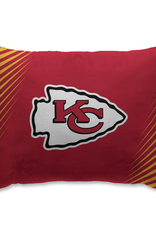 HOVER HELMETS Kansas City Chiefs Side Streak Microplush Pillow Protector