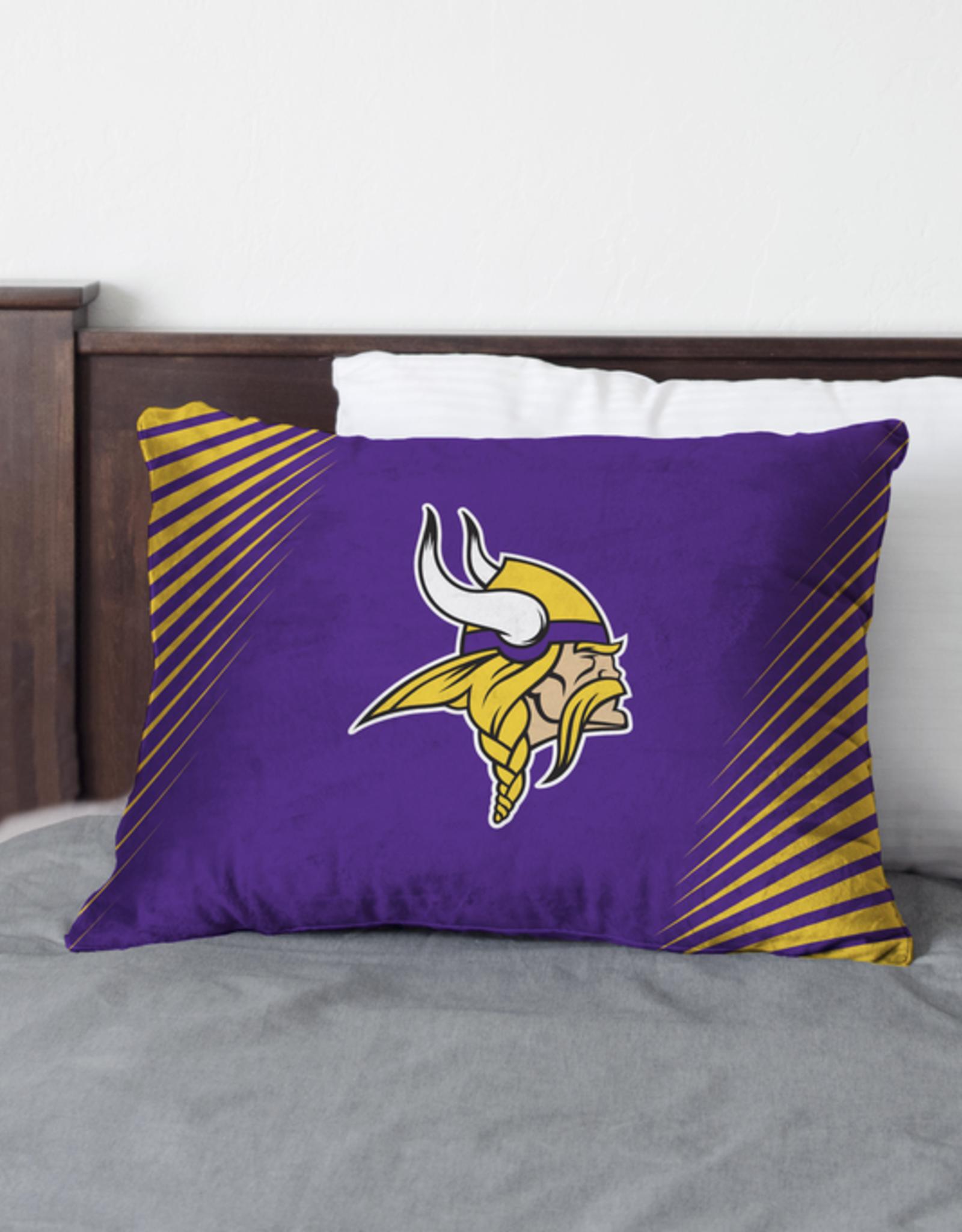 HOVER HELMETS Minnesota Vikings Side Streak Microplush Pillow Protector