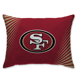 HOVER HELMETS San Francisco 49ers Side Streak Microplush Pillow Protector
