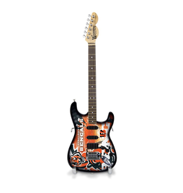 SPORTS VAULT CORP Cincinnati Bengals NorthEnder Woodrow Mini Guitar