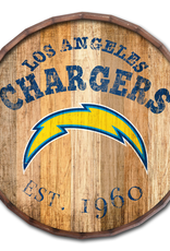 """FAN CREATIONS Los Angeles Chargers 16"""" Cracked Barrel Top -EST"""