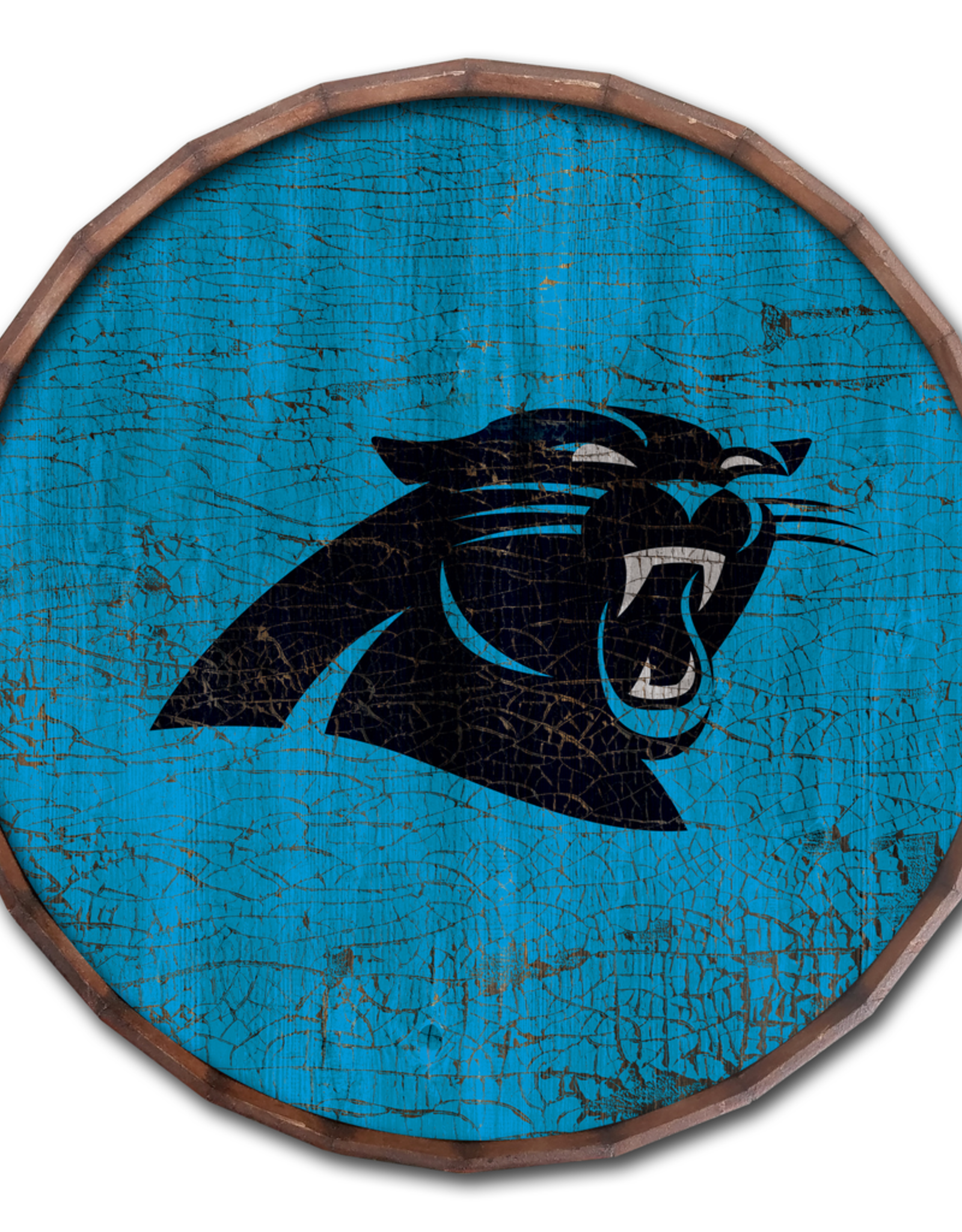 "FAN CREATIONS Carolina Panthers 24"" Cracked Barrel Top - TC"