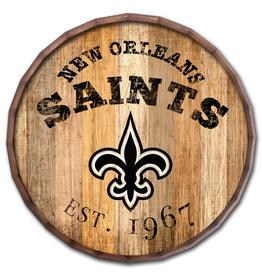 """FAN CREATIONS New Orleans Saints 16"""" Cracked Barrel Top -EST"""