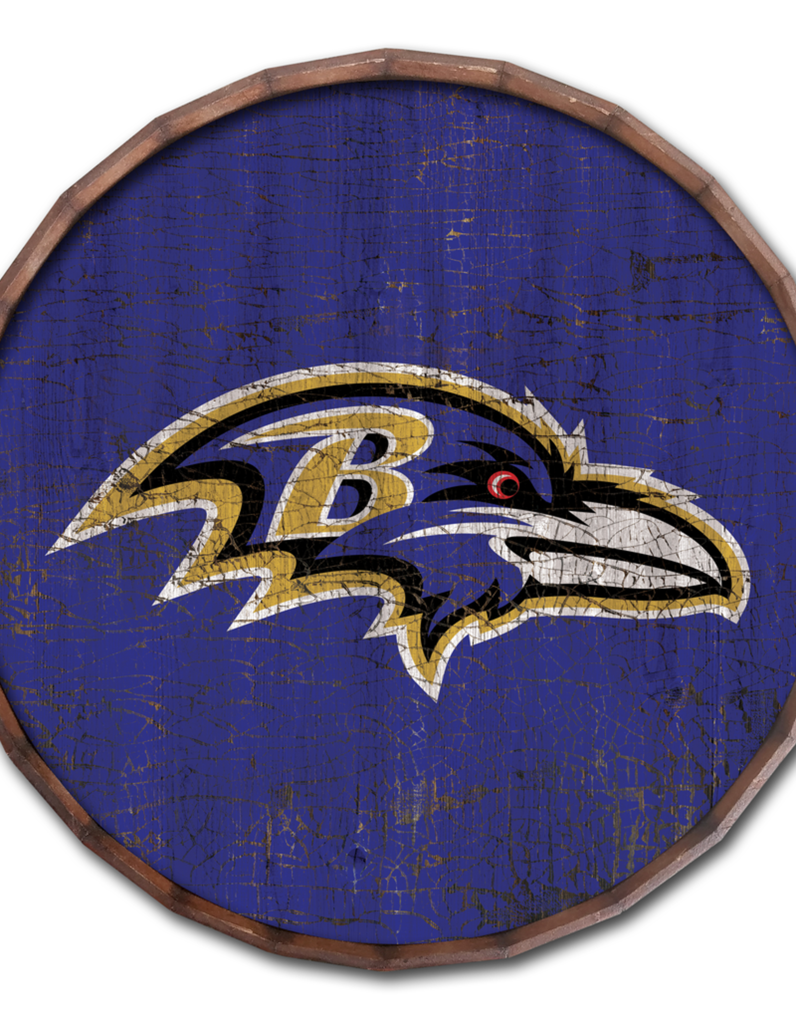 "FAN CREATIONS Baltimore Ravens 16"" Cracked Barrel Top - TC"