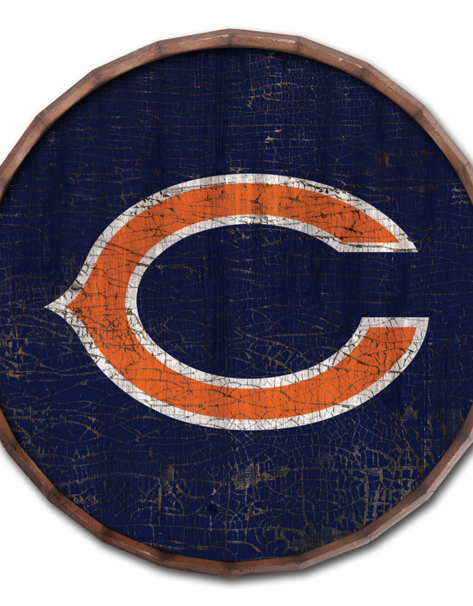 "FAN CREATIONS Chicago Bears 16"" Cracked Barrel Top - TC"