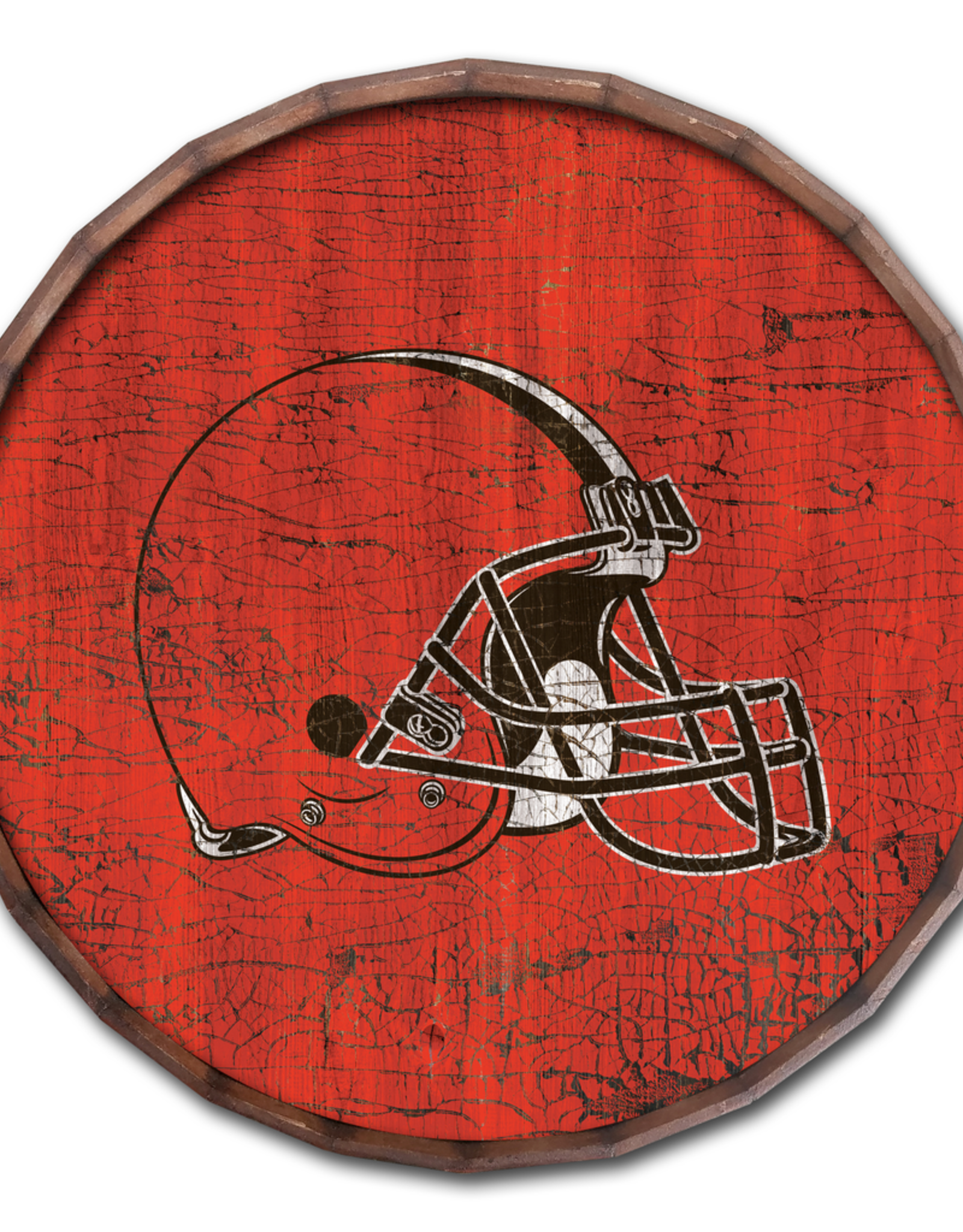 """FAN CREATIONS Cleveland Browns 16"""" Cracked Barrel Top - TC"""