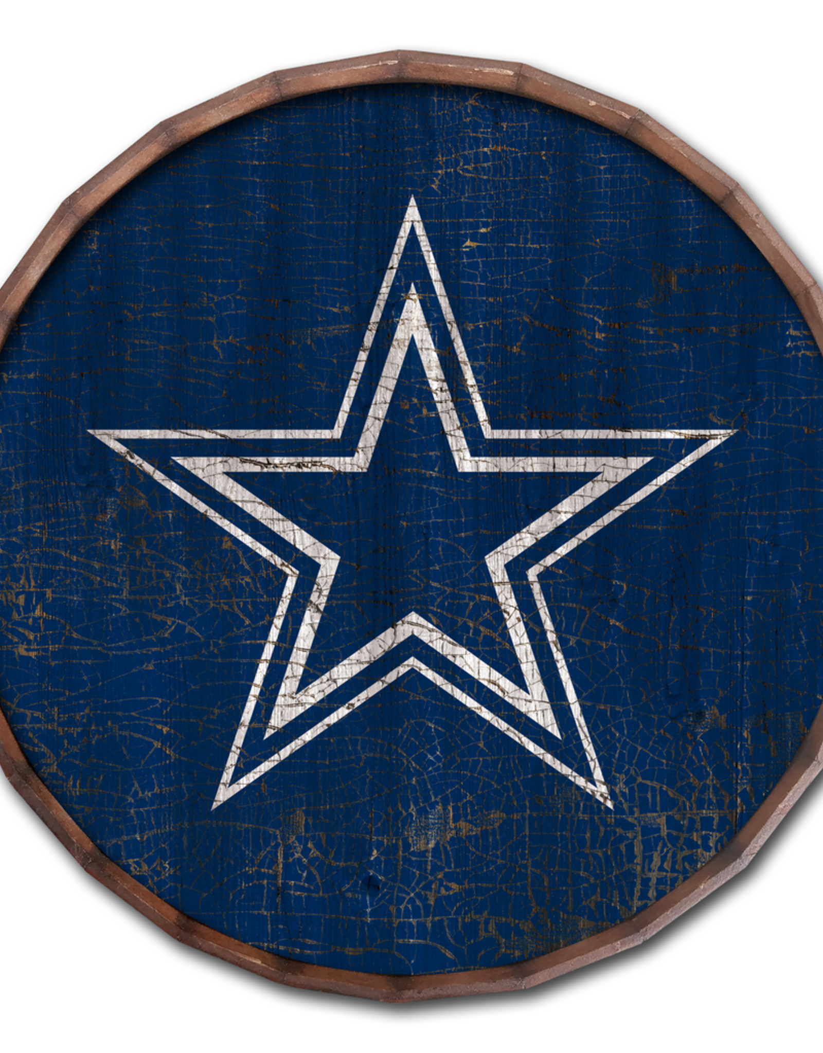 "FAN CREATIONS Dallas Cowboys 16"" Cracked Barrel Top - TC"